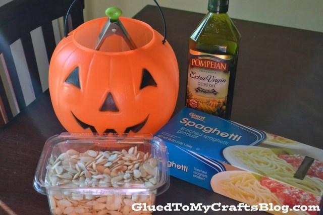 Pumpkin Guts {Sensory Bin Play}