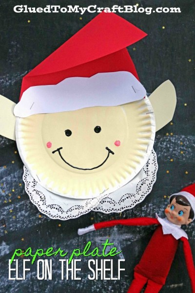 Paper Plate Elf on the Shelf - Christmas Kid Craft Idea