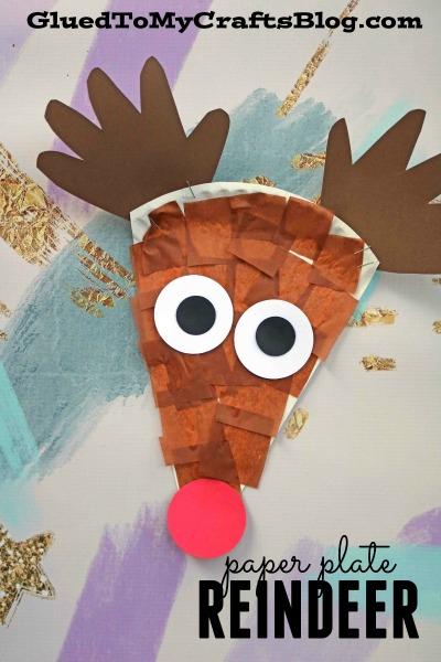 Paper Plate Reindeer Kid Craft & Plate Reindeer Kid Craft