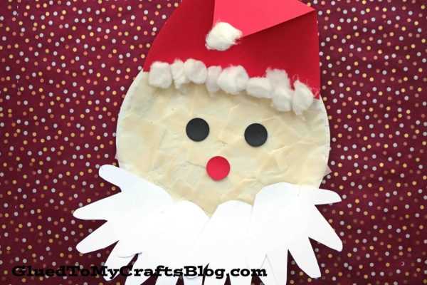 Paper Plate Santa w/Handprint Beard {Kid Craft}