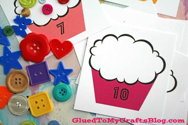 Cupcake Counting Game - Busy Bag Idea & Free Printable