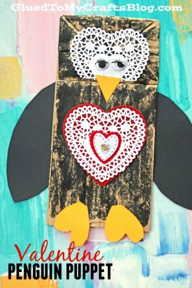 Valentine Penguin Puppet {Kid Craft}