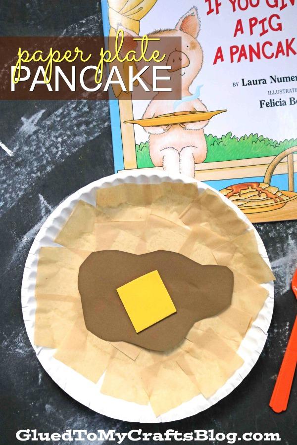 Paper Plate Pancake - Kid Craft Idea