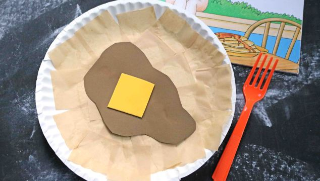 Paper Plate Pancake - Kid Craft Idea