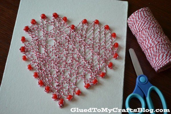 Valentine String Art Decor
