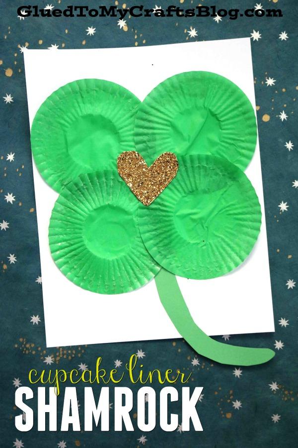 Cupcake Liner Shamrock {Kid Craft}
