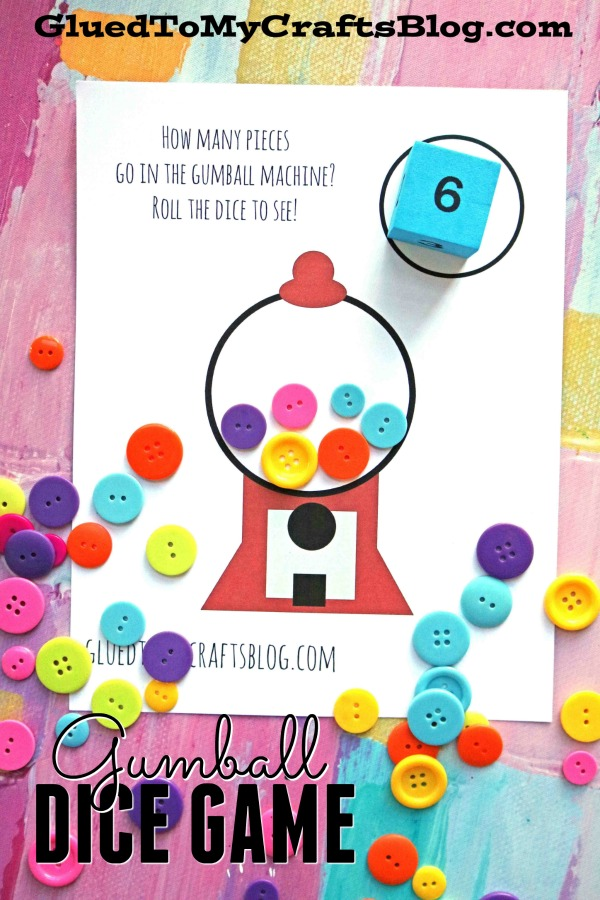 Gumball Machine Dice Game + Free Printable