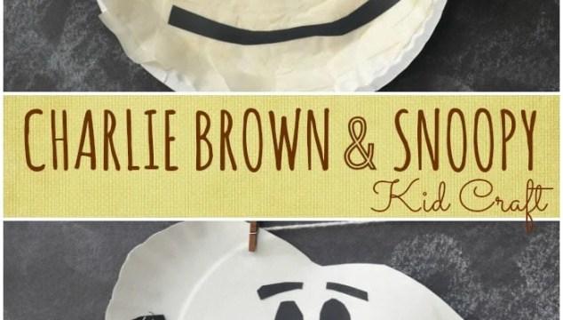 Charlie Brown & Snoopy {Kid Craft}