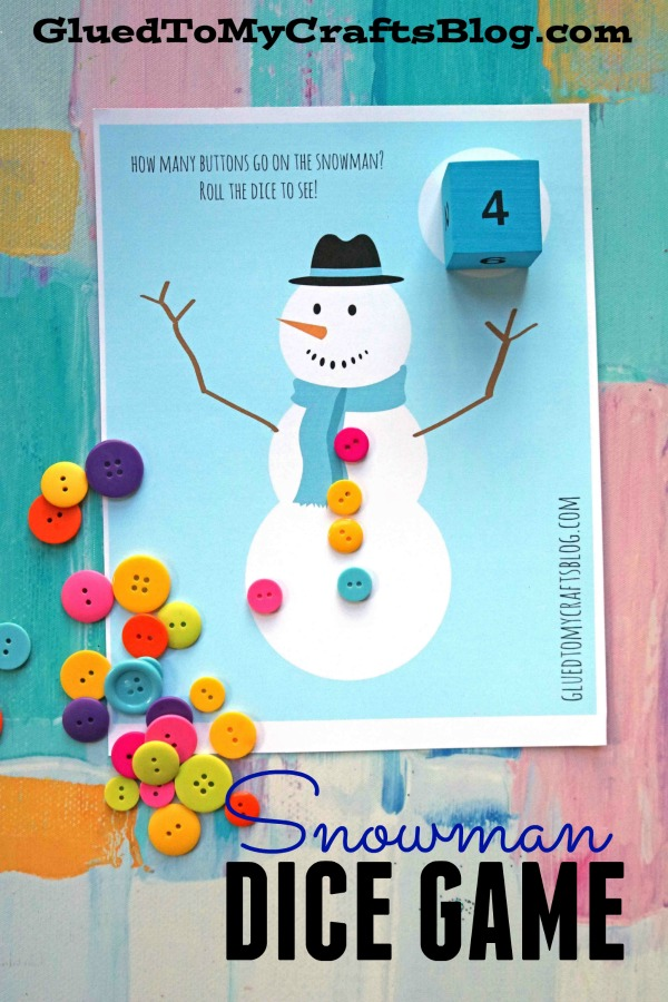 picture about Printable Dice Games known as Snowman Cube Sport Free of charge Printable