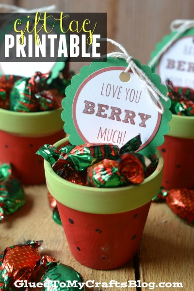 Love You Berry Much - Gift Tag Printable