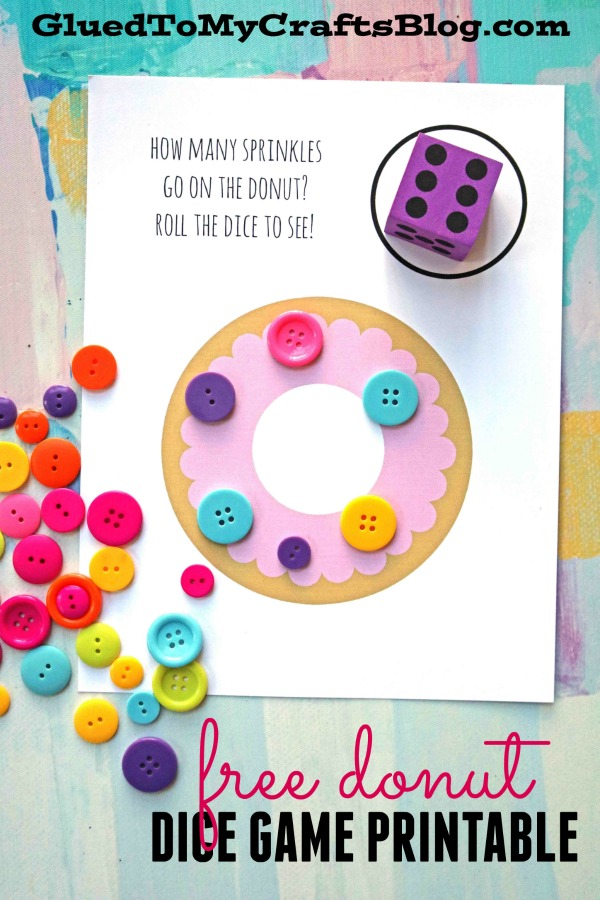 photo about Dice Bag Printable Pattern named Donut Sprinkle Activity - No cost Printable