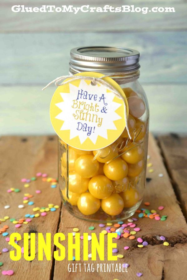 Bright and Sunny Day Gift Tag Printable