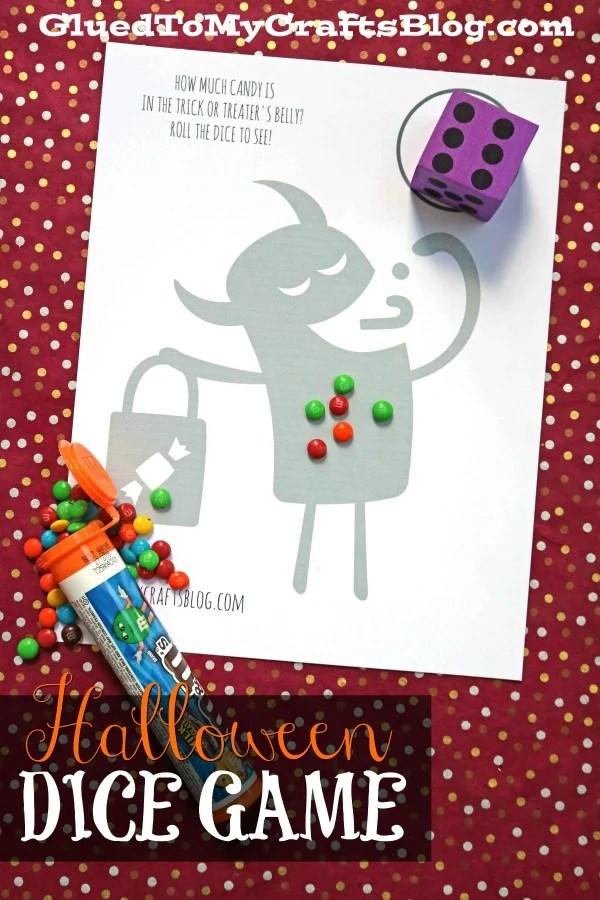 Halloween Dice Game Printable
