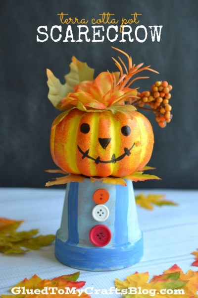 Terra Cotta Pot Scarecrow - Kid Craft