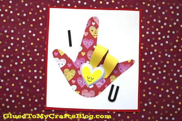 Sign Language I Love You Card - Kid Craft