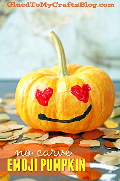 No Carve Emoji Pumpkin