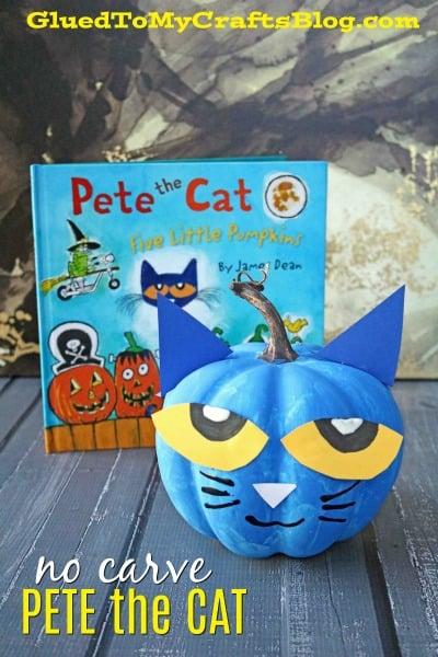No Carve Pete The Cat Pumpkin