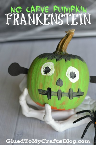No Carve Pumpkin Frankenstein - Kid Craft