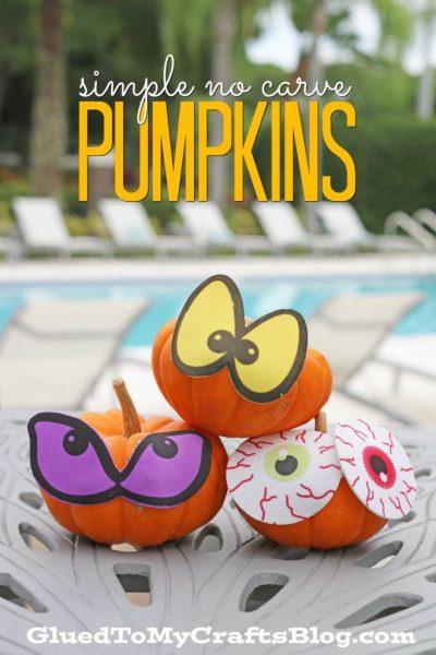 Simple No Carve Pumpkin - Kid Craft Idea