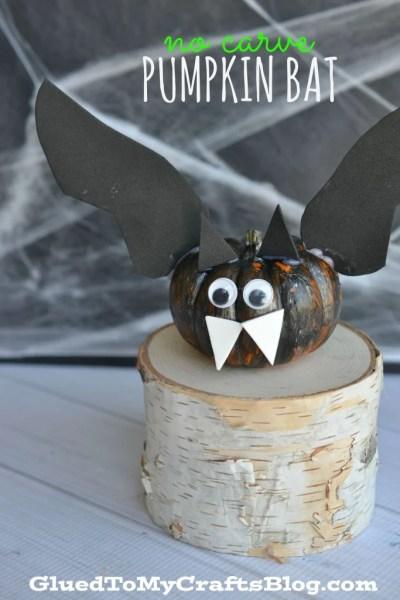 No Carve Bat Pumpkin