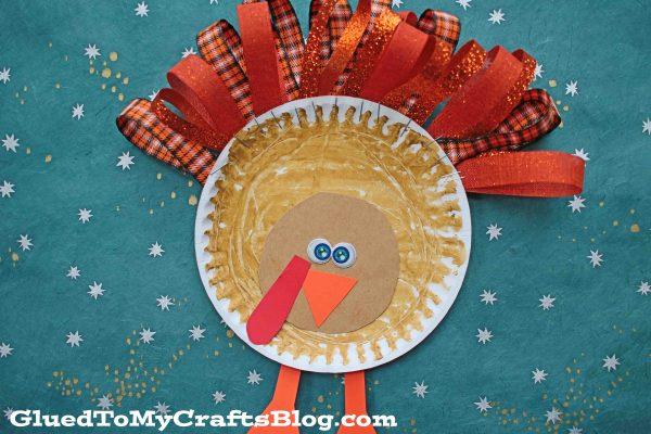 Paper Plate & Ribbon Turkey - Kid Craft