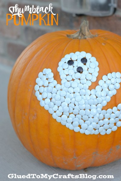 No Carve Thumbtack Pumpkin