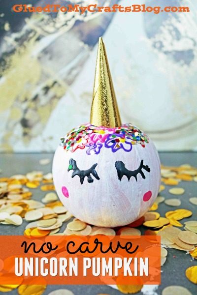 No Carve Unicorn Pumpkin