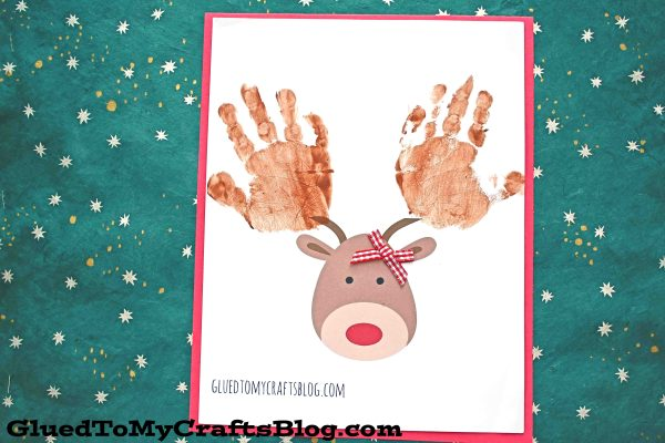 Handprint Reindeer Keepsake - Christmas Kid Craft