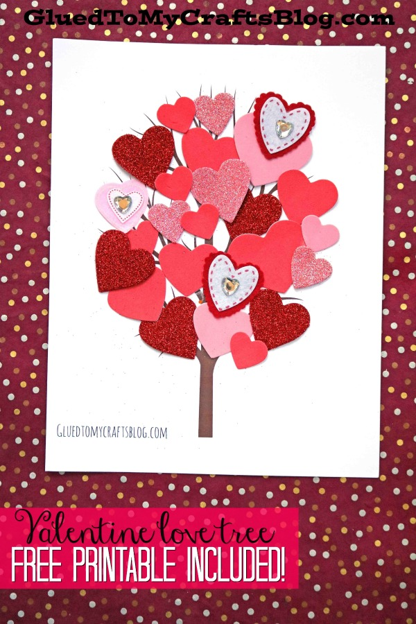 Love Tree Kid Craft w/free printable template