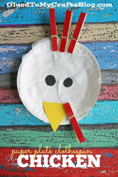 Paper Plate Clothespin Chicken