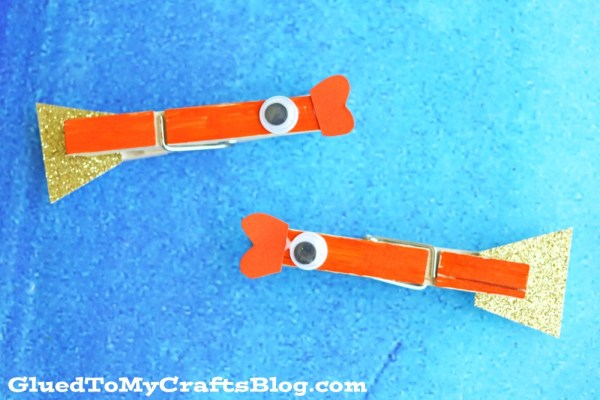 Clothespin Goldfish - Kid Craft