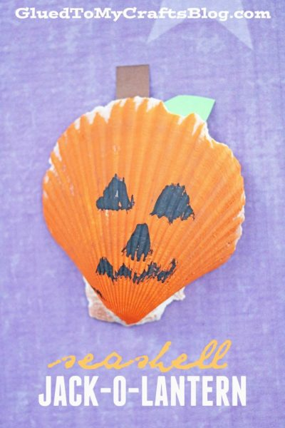 Seashell Jack-O-Lanterns - Kid Craft