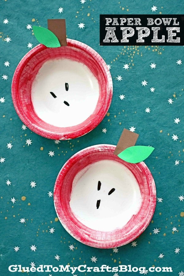 Simple Paper Bowl Apple - Kid Craft