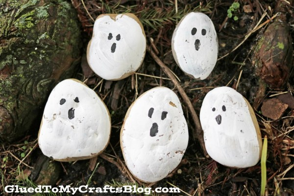 Ghost Rock Painting - Kid Craft