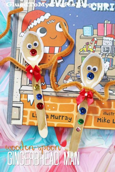 Wooden Spoon Gingerbread Man - Kid Craft