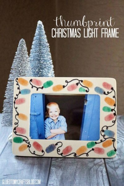 Thumbprint Snowman Frame Kid Craft Glued To My Crafts