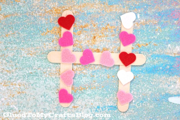 """H"" is for Hearts - Valentine's Day Kid Craft"