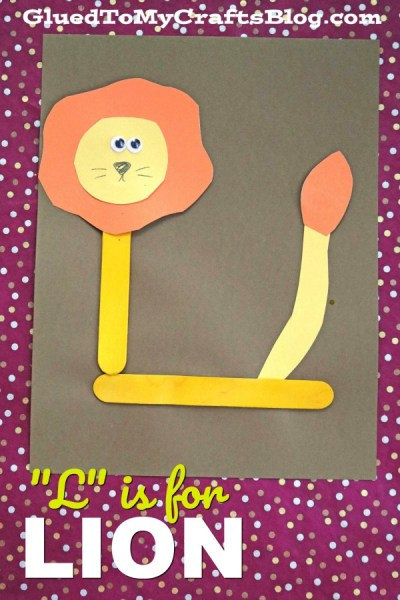 """L"" is for Lion - Popsicle Stick Kid Craft Idea"