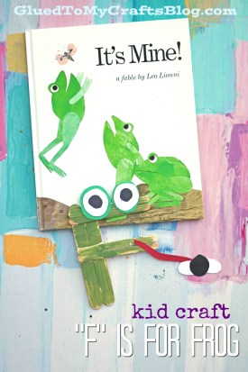 """""""F' is for Frog Kid Craft Idea"""