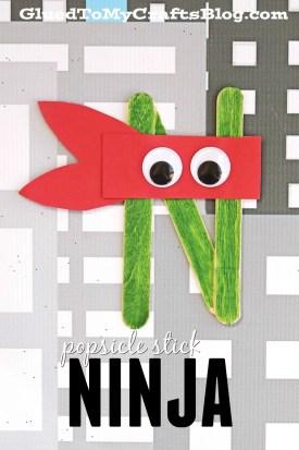 Popsicle Stick Ninjas - Kid Craft
