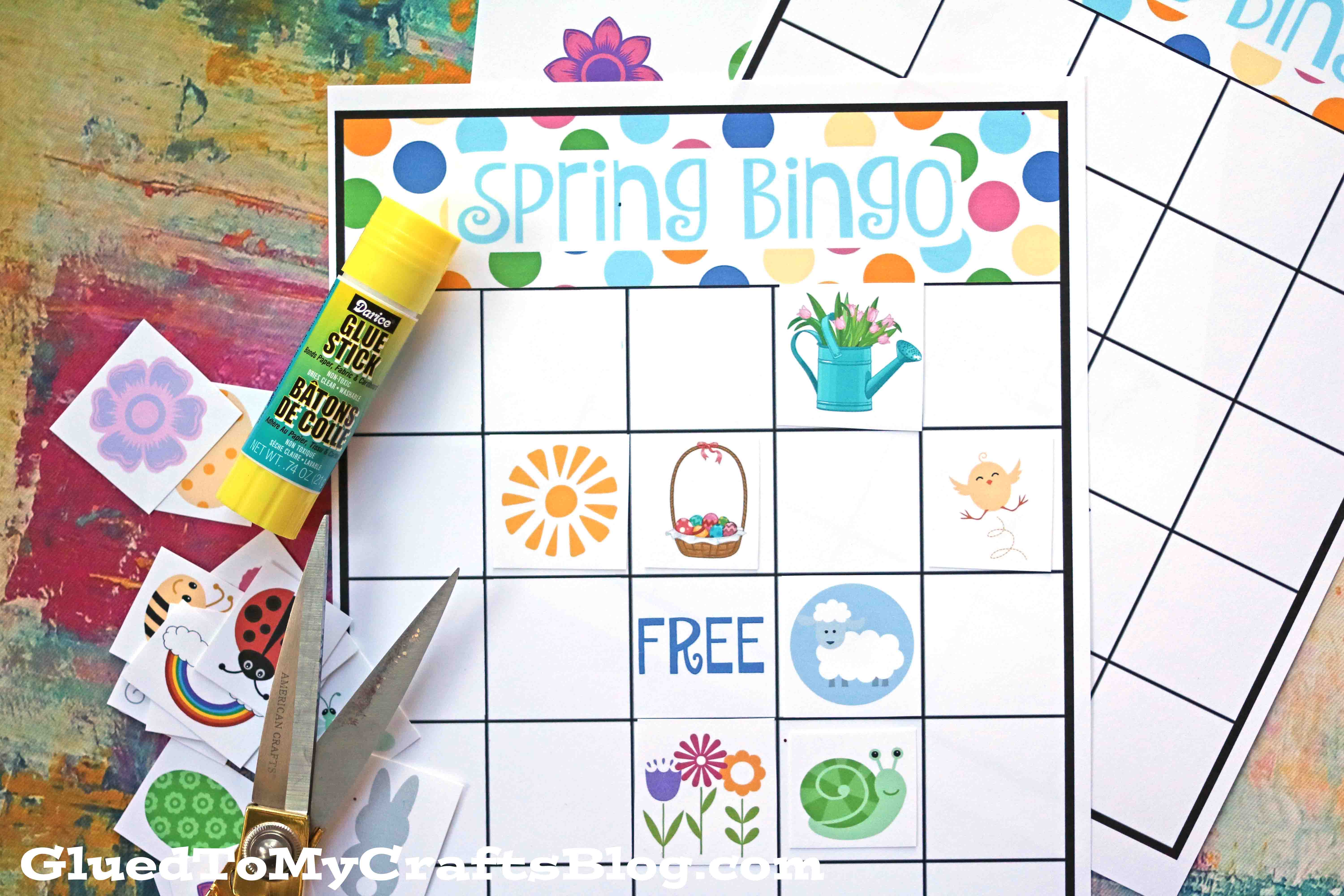 image about Free Printable Easter Bingo Cards known as spring bingo match printable