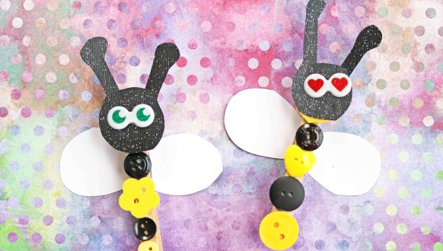Button Clothespin Bees – Kid Craft