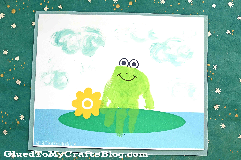 Painted Handprint Frog Keepsake Craft Idea For Kids