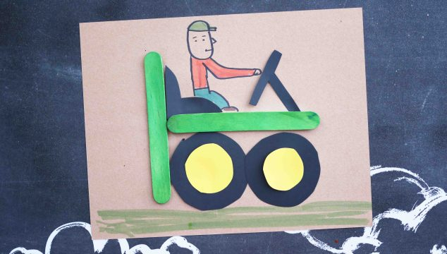 """T"" is for Tractor – Kid Craft"