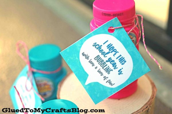 "Back To School ""Bubbling Over"" Gift Tag Printable"