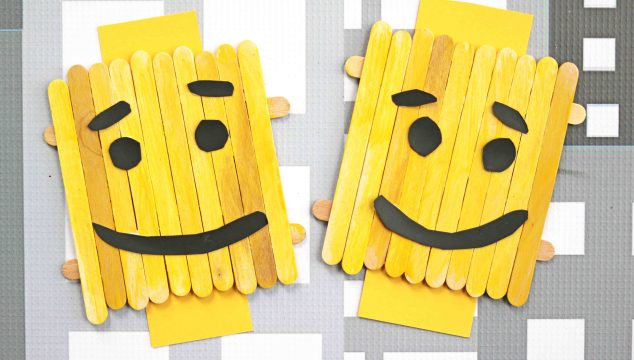Popsicle Stick Lego Character – Kid Craft