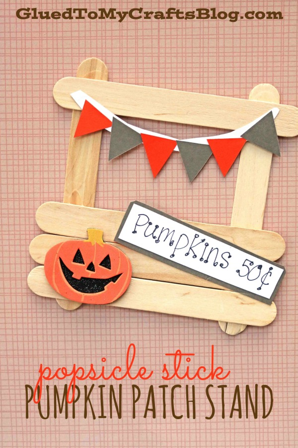 Popsicle Stick Pumpkin Patch Stand - Kid Craft