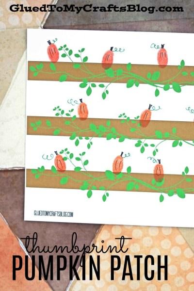 Thumbprint Pumpkin Patch - Free Template