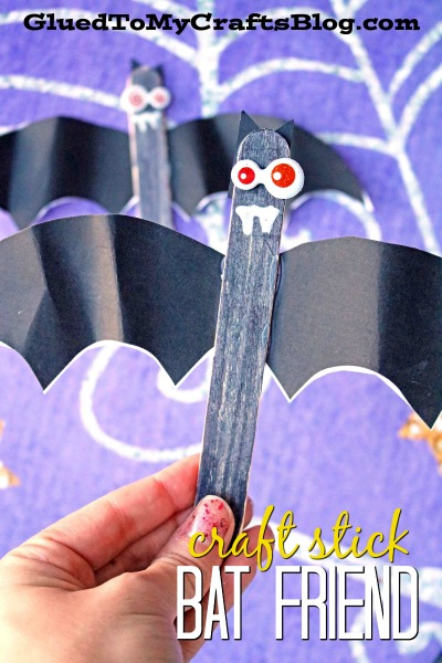 Craft Stick Bat Friends - Kid Craft w/Free Template
