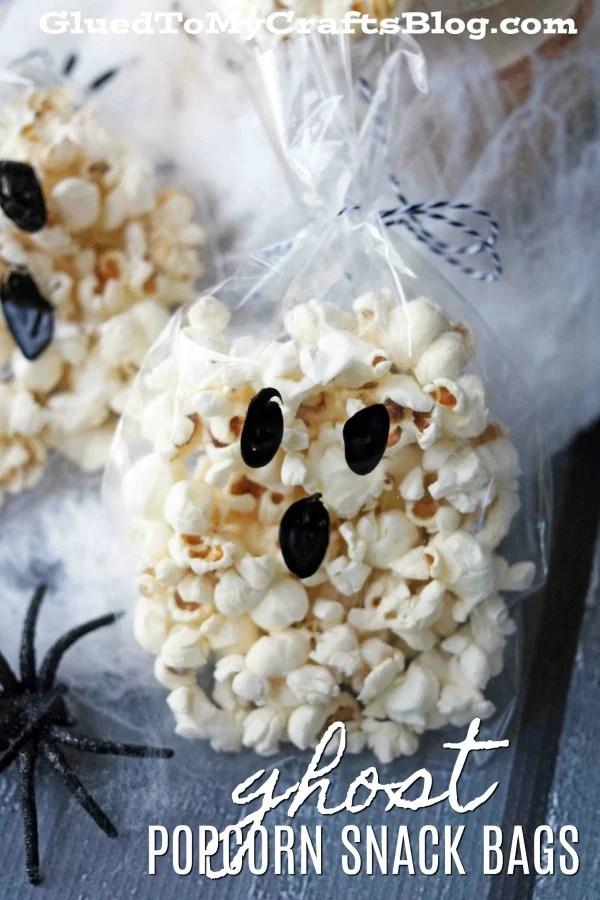 Effortless Ghost Popcorn Treat Bags
